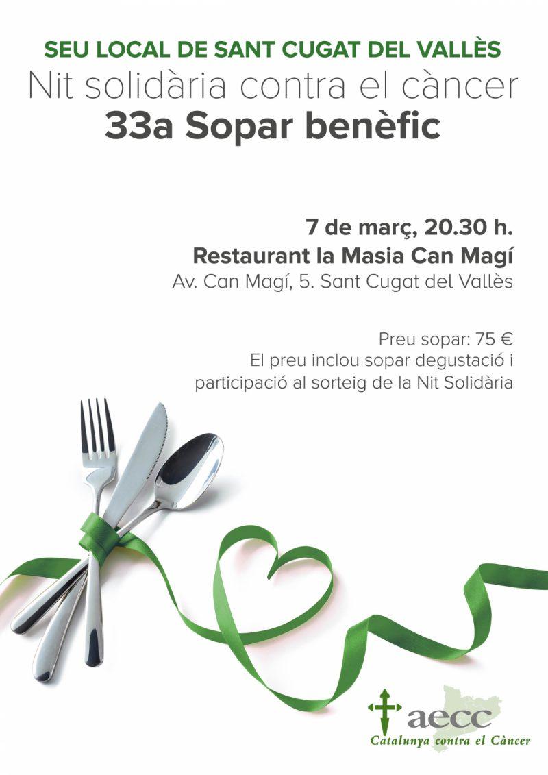 33 Sopar Anual a Sant Cugat, A benefici de l'AECC