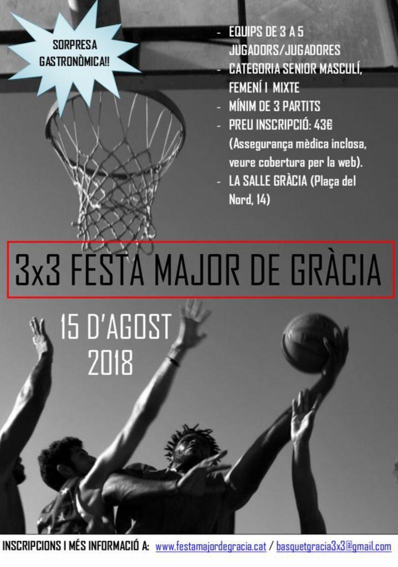 3X3 DE BÀSQUET FESTA MAJOR DE GRÀCIA 2018