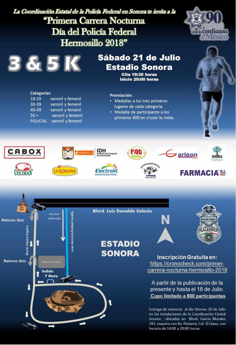 Primer Carrera Nocturna Hermosillo 2018